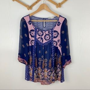 Floreat from Anthropologie Boho Blouse
